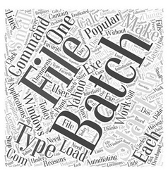 Automating things with batch files word cloud vector