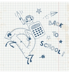 Back to school Schoolboy endearing knowledge vector image vector image