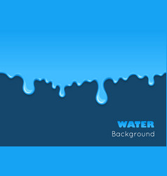Background of dribble blue liquid vector