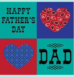 bandana heart fathers day vector image