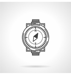 Black line icon for compass vector image vector image