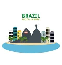 Brazil rio de janeiro touristics places design vector