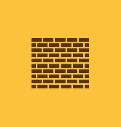 Brick wall icon building and construction vector