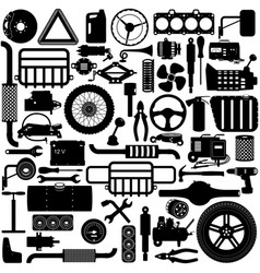 car parts pictogram vector image vector image