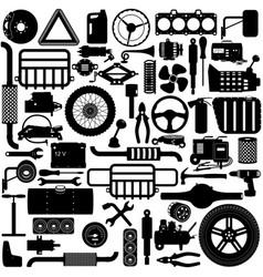 Car parts pictogram vector