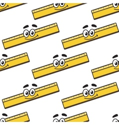 Cartoon ruler seamless pattern vector image