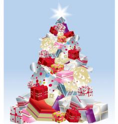 Christmas tree presents vector image vector image