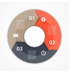 circle arrows infographic Template for diagram vector image vector image
