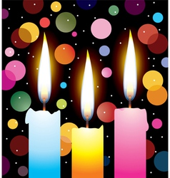 colorful candles vector image