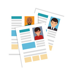 Curriculum vitae document icon vector