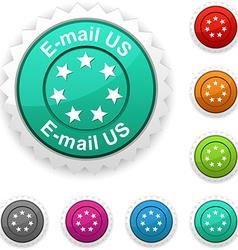 E-mail us award vector