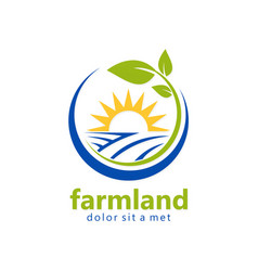 Farmland organic natural logo vector