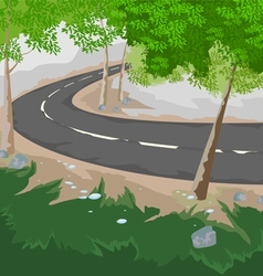 Forest and road vector