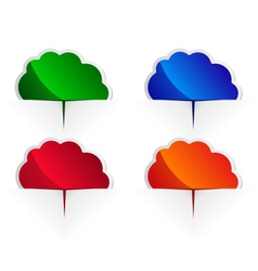 glossy cloud labels vector image vector image