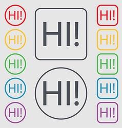 Hi sign icon india translation symbol symbols on vector