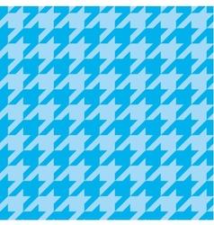 Houndstooth tile blue pattern or background vector