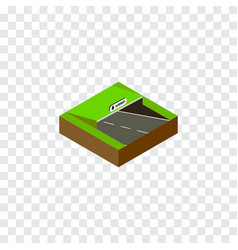 Isolated subway isometric underground vector
