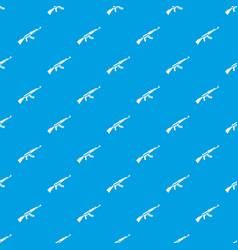 Kalashnikov machine pattern seamless blue vector