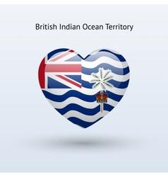 Love british indian ocean territory symbol heart vector