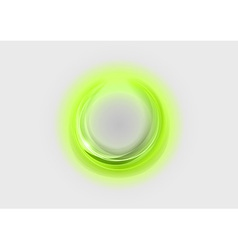 neon light soft green vector image vector image