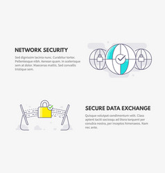 Network security and secure data exchange cyber vector