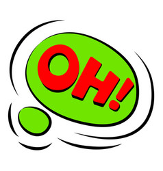Oh sound effect icon cartoon style vector