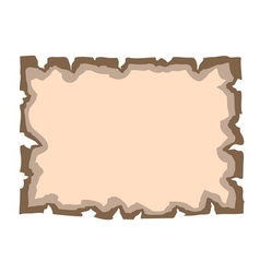 Parchment old paper Empty banner vector image vector image