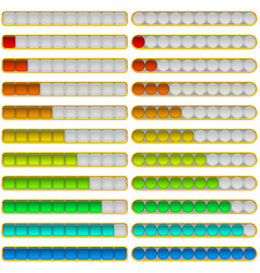 progress bars set vector image