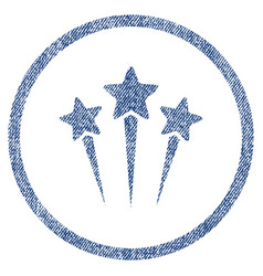 star salute rounded fabric textured icon vector image vector image
