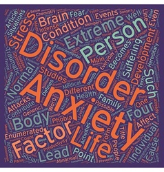 Stress and anxiety what is anxiety text background vector