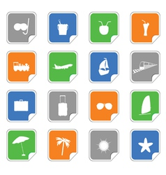symbol on the stickers color vector image vector image