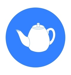 Teapot icon in black style isolated on white vector