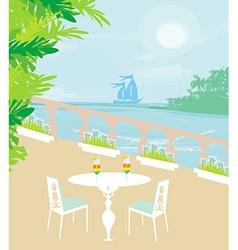 Tropical drink bar vector