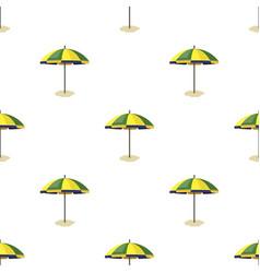 yelow-green beach umbrella icon in cartoon style vector image vector image