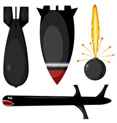 Bombs missiles set vector