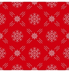 Christmas seamless pattern snowflakes red vector