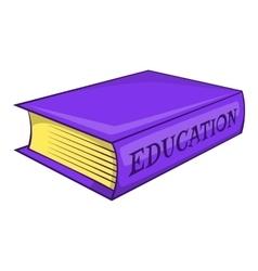 Education book icon cartoon style vector