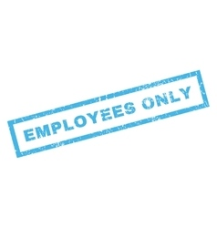Employees Only Rubber Stamp vector image