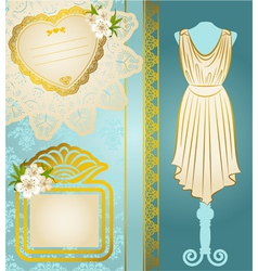 Fashionable dresses vector image