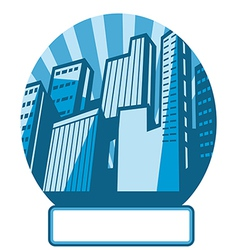 Cityscape icon label vector