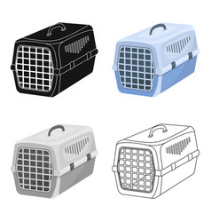 Container for animalspet shop single icon in vector