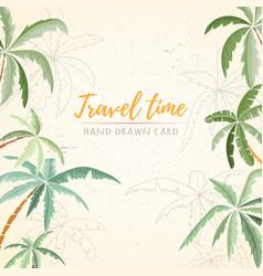 Hand drawn holiday travel card vector