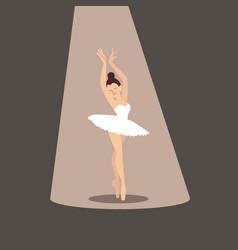 ballerina icon vector image