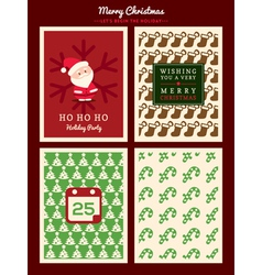 Christmas card pattern background vector