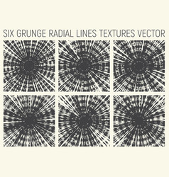6 grunge radial psychedelic textures vector
