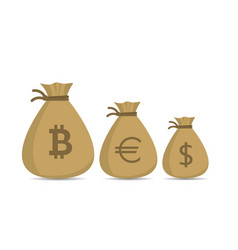 money bag set vector image