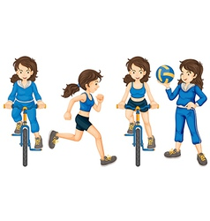 Active teenagers vector image