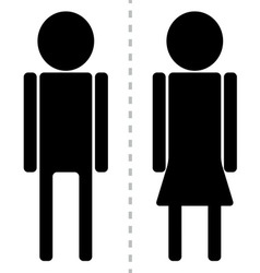 Sign man woman toilet vector