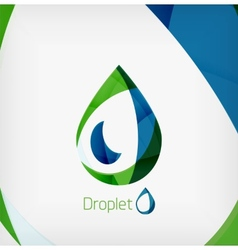 Flat water drop geometric shape concept vector