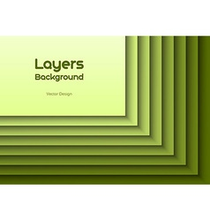 Layers green text vector